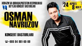 Afisha - Osman Navruzov - 24-aprel 8-may kunlari konsert beradi 2021